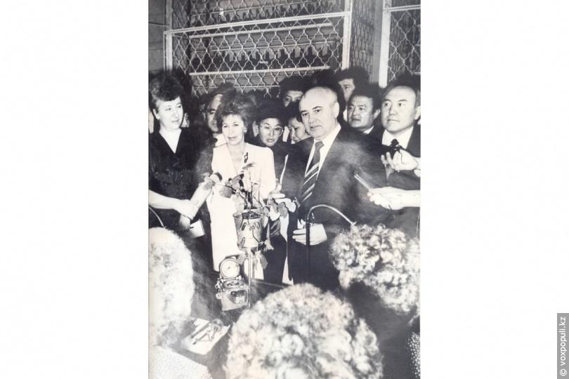 Михаил Горбачев и Нурсултан Назарбаев на АХБК
